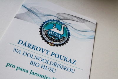 Tisk certifikátů, pozvánek a dárkových poukazů